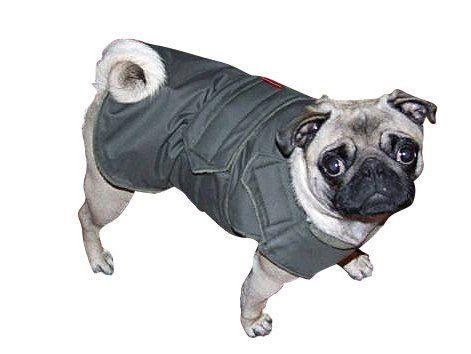 Pug Winter Dog Coat Dog Jacket With Underbelly Protection
