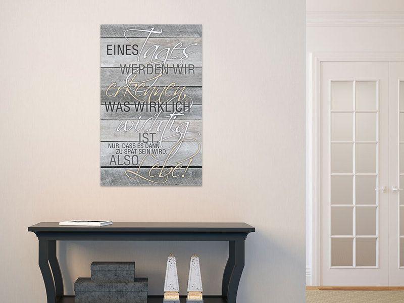 80x50cm Wandbilder Sprüche für Wohnzimmer Eines Products - wandbild für wohnzimmer