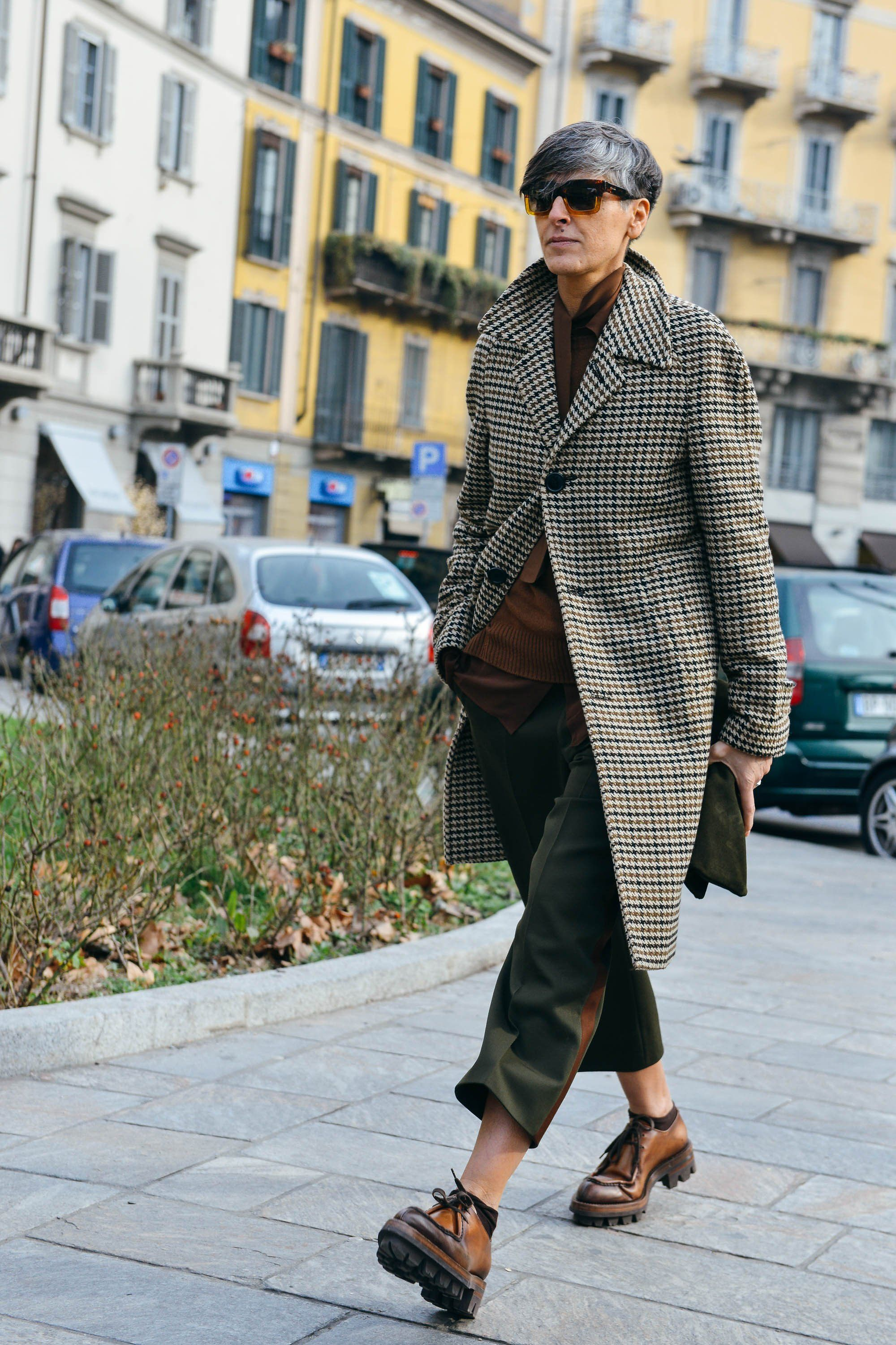 """Ana Gimeno Brugada - """"Yes, Ana Gimeno Brugada is a woman, but if you're looking for the human being putting the freshest, most modern twists on traditional menswear staples, you can bet Brugada is it. She mixes patterns better than any of the boys and can make a cropped tuxedo pant look unexpectedly fresh."""" —Steff Yotka"""