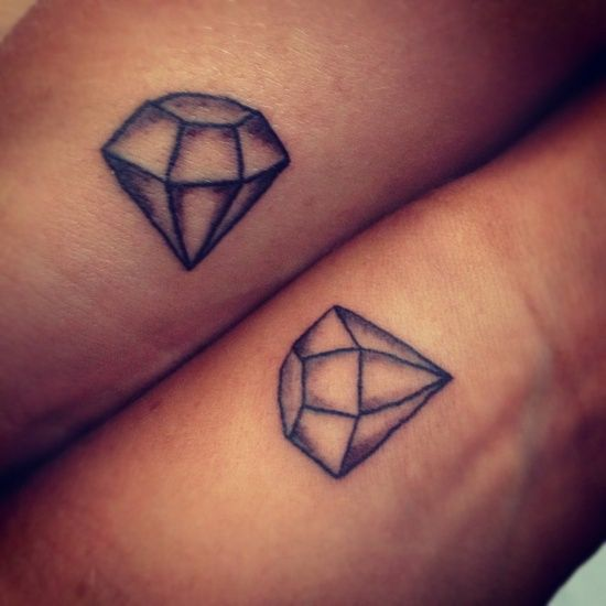 Best friend tattoo. Diamonds are a girls best friend x