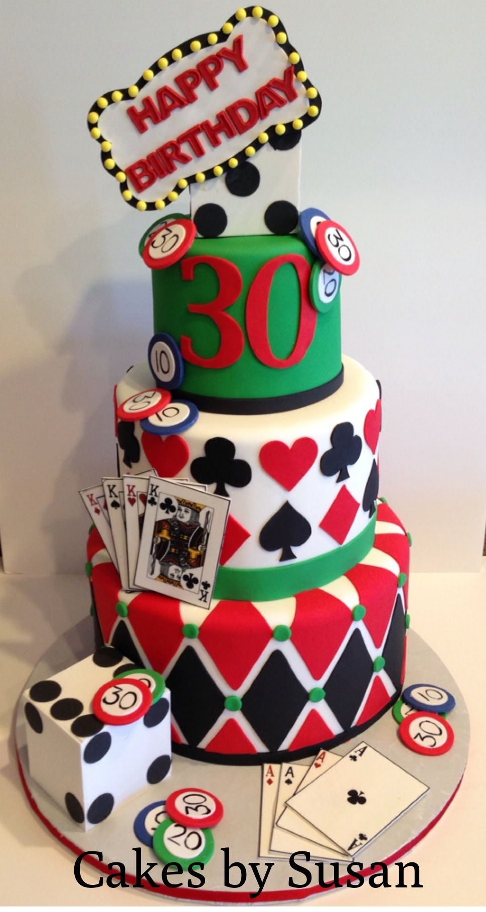 Vegas themed birthday cake cici Pinterest Birthday cakes