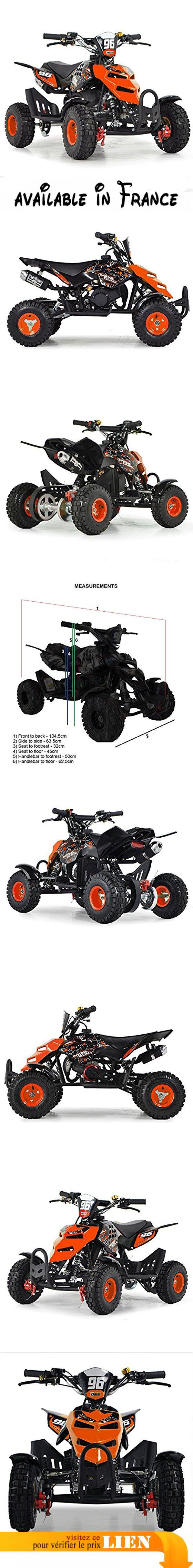 nouveau sommet divers design qualité parfaite FunBikes Mini quad à essence pour enfant 49cc 50cc Orange ...