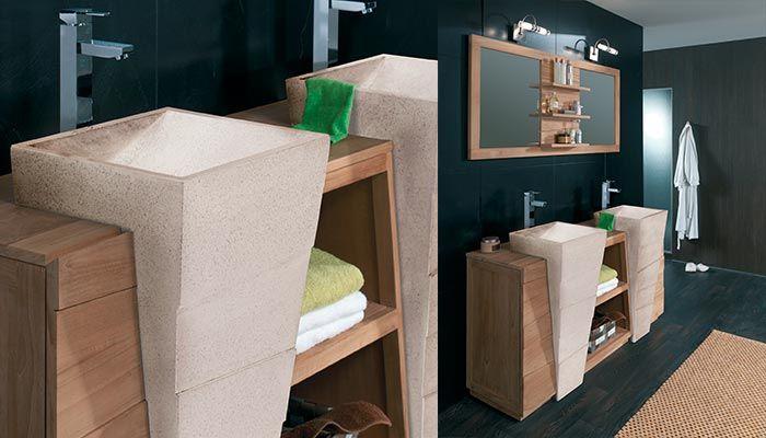 salle de bains komodo id es pour la maison pinterest vasque teck et meubles en teck. Black Bedroom Furniture Sets. Home Design Ideas