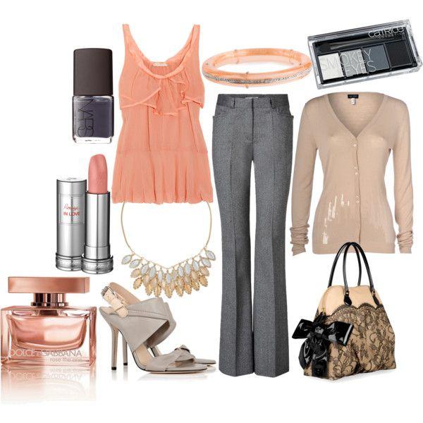 Peach & Grey ♥