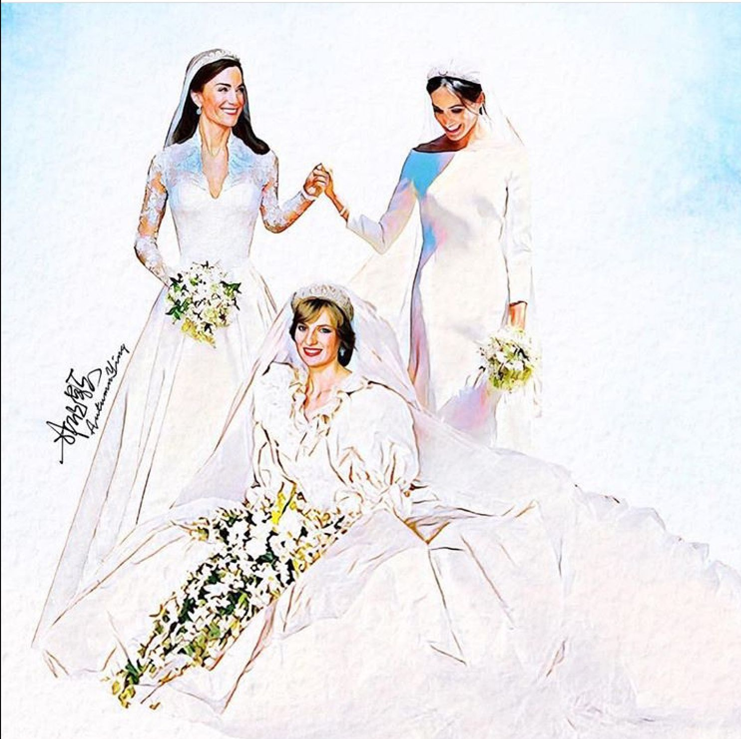 generations the duke and duchess of sussex wedding royal brides princess diana kate and meghan royal brides princess diana kate