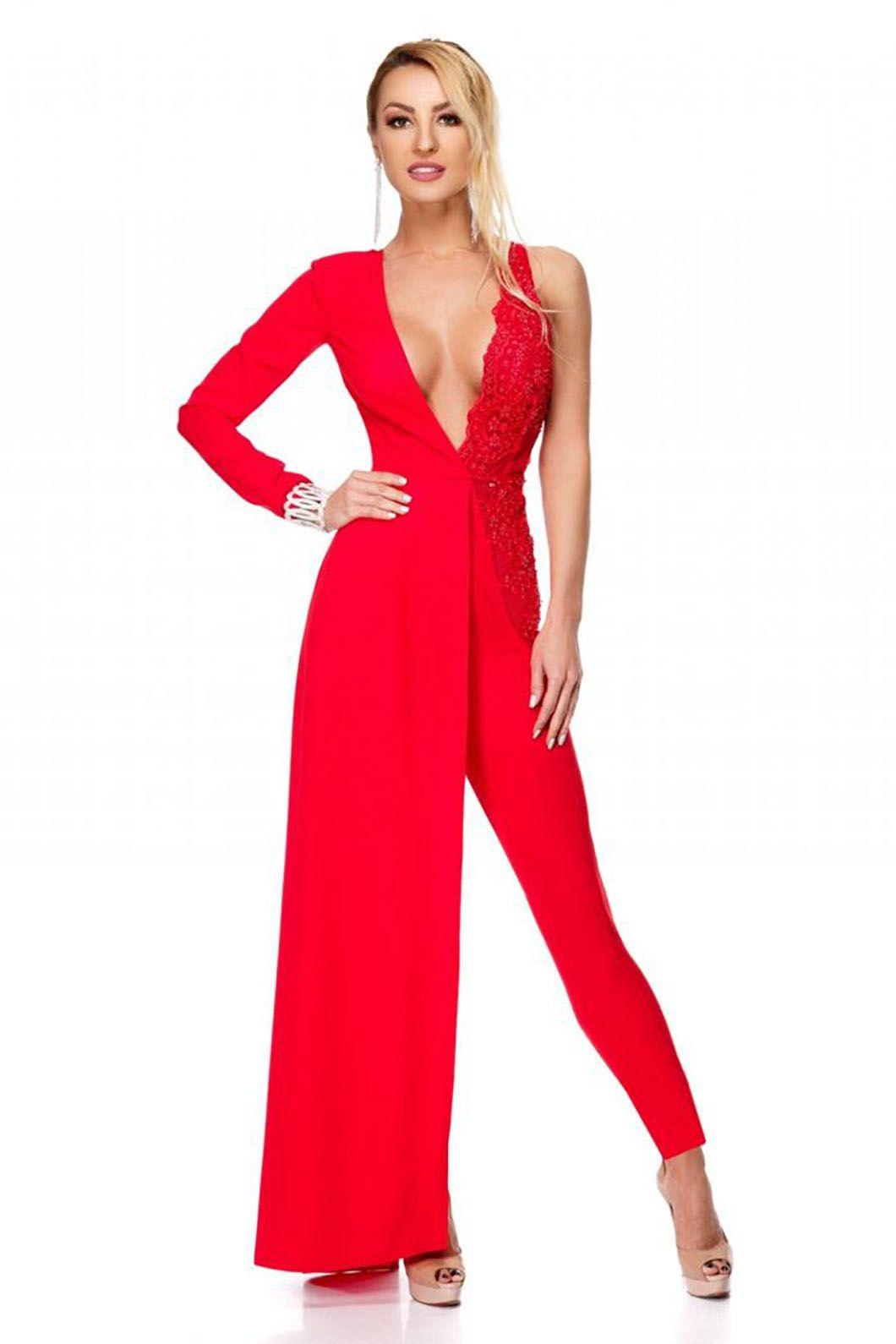 459b0455d8 Tuta rossa elegante – RossettiFashion.com | ABITI ELEGANTI nel 2019 ...