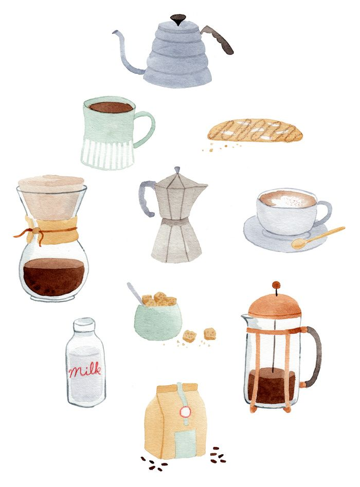 Coffee | Julianna Swaney | My Work | Coffee illustration ...