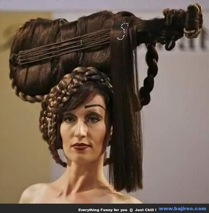 Funny Hairstyles Of Women You Never Seen Before 50 Photos Hair Styles Hair Humor Weird Haircuts
