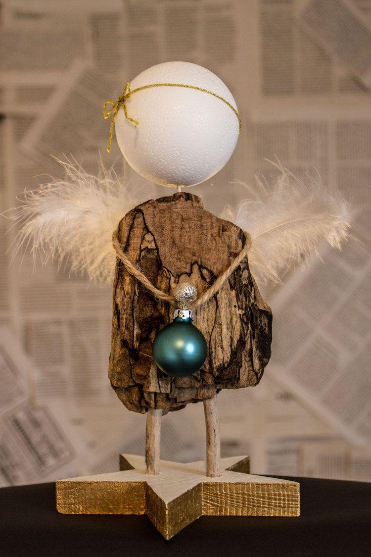 Engel Chiara #weihnachtsbastelnnaturmaterialien