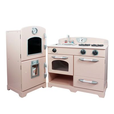 Teamson Kids 2 Piece Wooden Play Kitchen Set Reviews Wayfair
