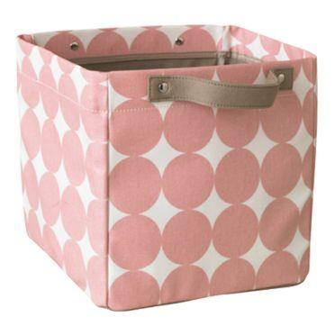 aufbewahrungsbox klein 'dots petal' in rosa von dwellstudio kaufen