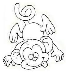 monos dibujados - Buscar con Google | Monkey coloring ...