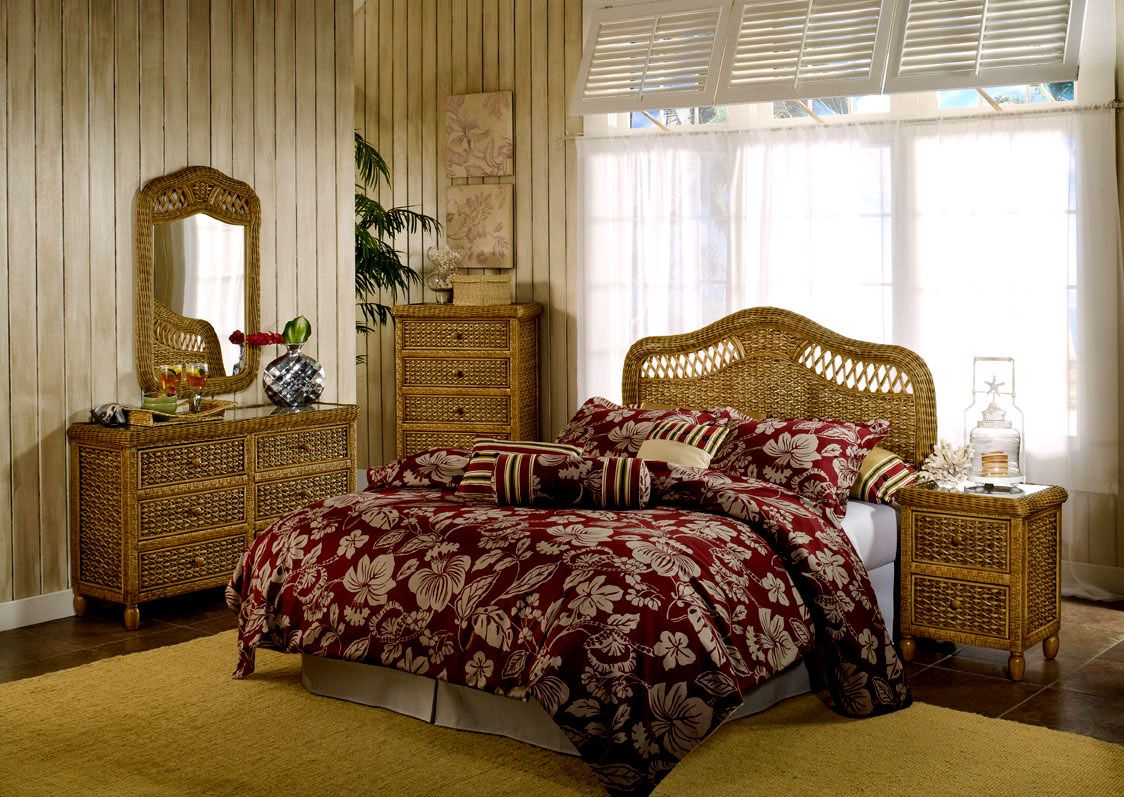 West Indies Toffee Finish Bedroom Suite by Seawinds