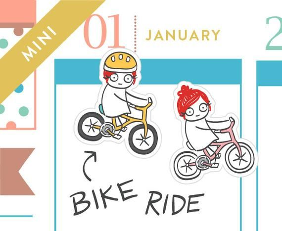 P240 Bike planner stickers bicycle stickers bike ride | Etsy