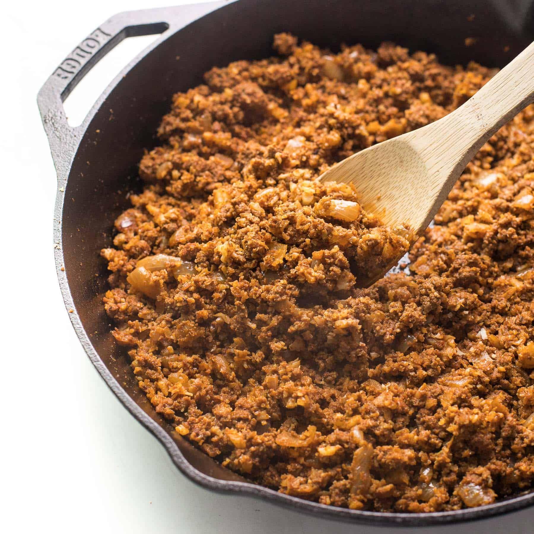 Whole30 Ground Beef Taco Meat (Keto, Paleo) - Tastes Lovely #groundbeeftacos