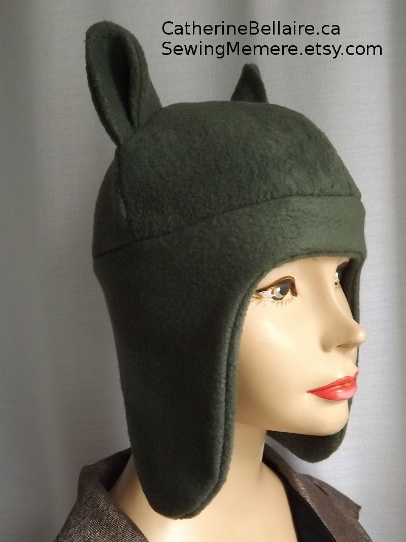 $30.00 QUALITY Canadian professionally handcrafted Animal hat with hear flap. Pin now, view latter. SewingMemere.etsy.com http://www.CatherineBellaire.ca