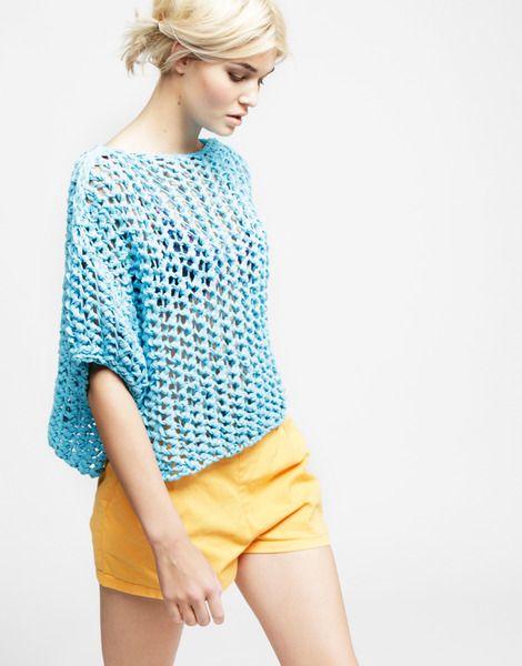 DIY summer knit sweater mit dickem Bändchengarn :-) | Anfänger ...