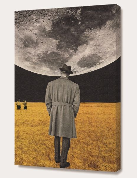 """""""How high the moon"""", Numbered Edition Canvas Print by Sammy Slabbinck - From $89.00 - Curioos"""