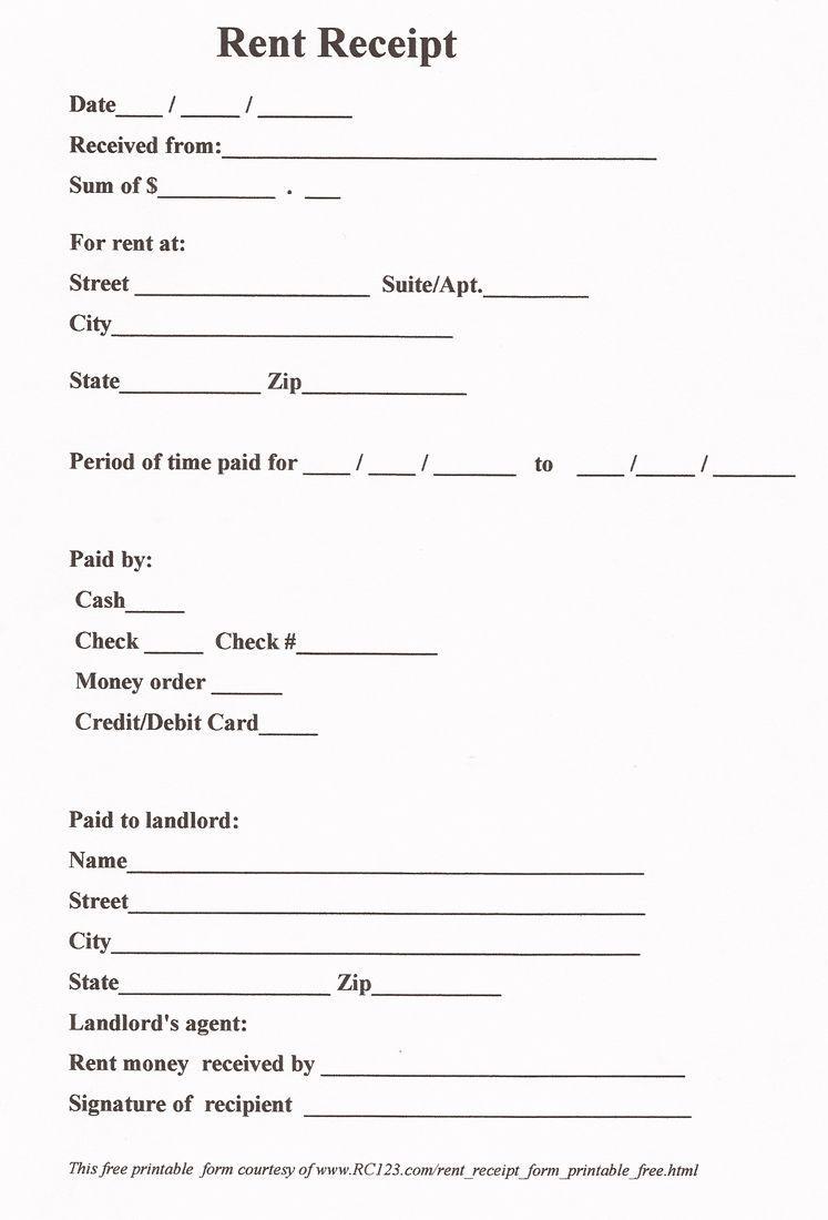 Free Rental Agreement Pdf Free Receipt Template Receipt