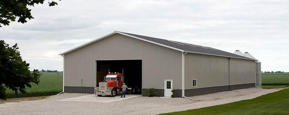 Farm building profile use cold storage machine shed for for Farm shed ideas