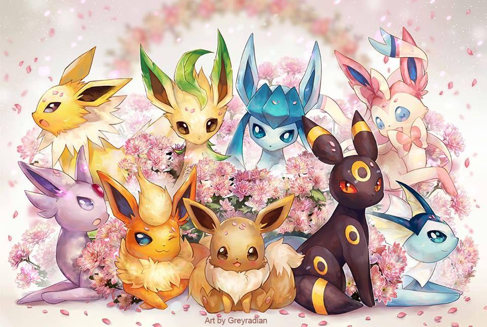 Evoli et ses evolution pokemon pokemon images pokemon - Poster pokemon a imprimer ...