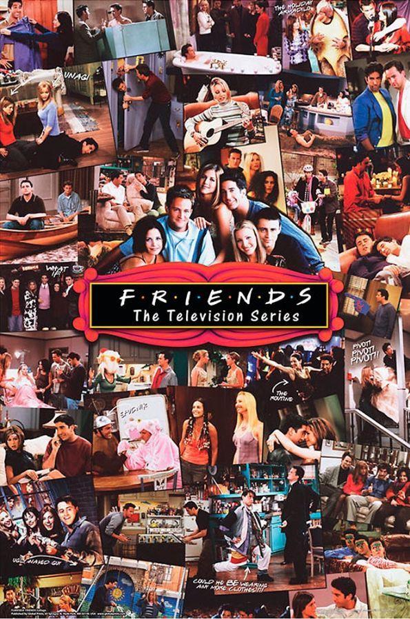 Friends Collage Poster Friends Poster Friends Tv Show Friends