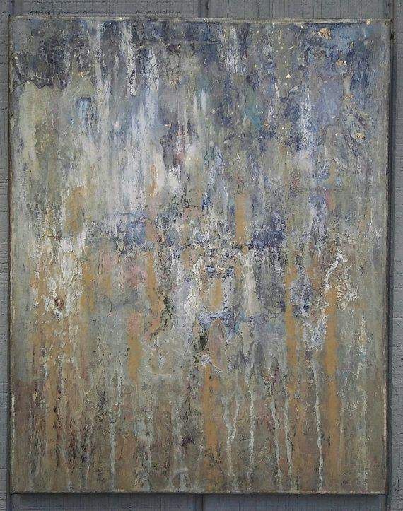 Minimalist texture abstract painting neutral by amynealartstudio