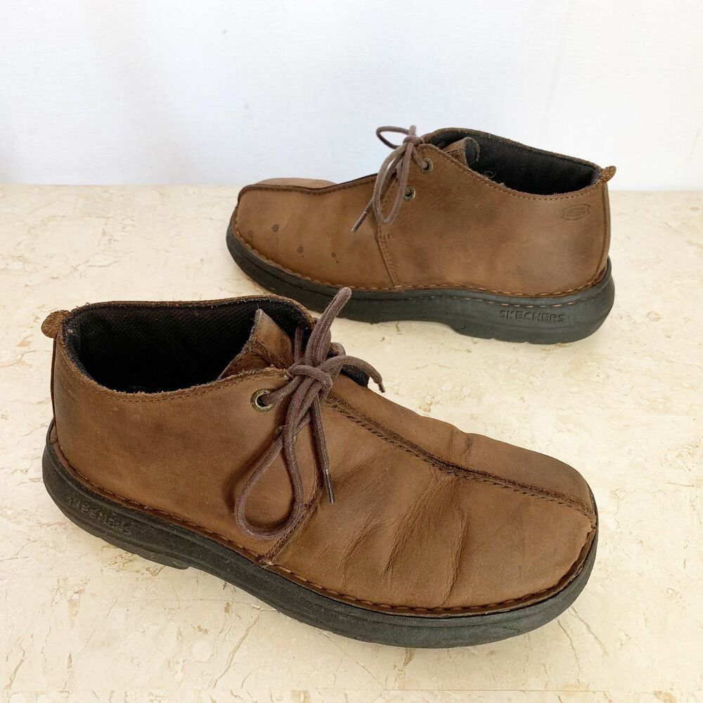 95f47efc9610b Skechers Desert Trek Chukka Boots Mens 6.5 M Brown Leather Shoes  Skechers   DesertBoots