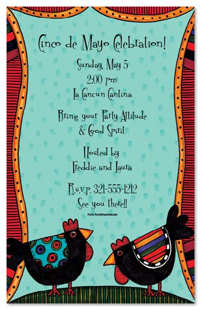 spanish holiday invitation kids birthday invitations girls boys