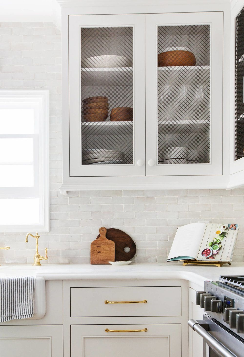 Trends We Love Wire Mesh Cabinets Studio Mcgee English Country Kitchens Kitchen Concepts Kitchen Design