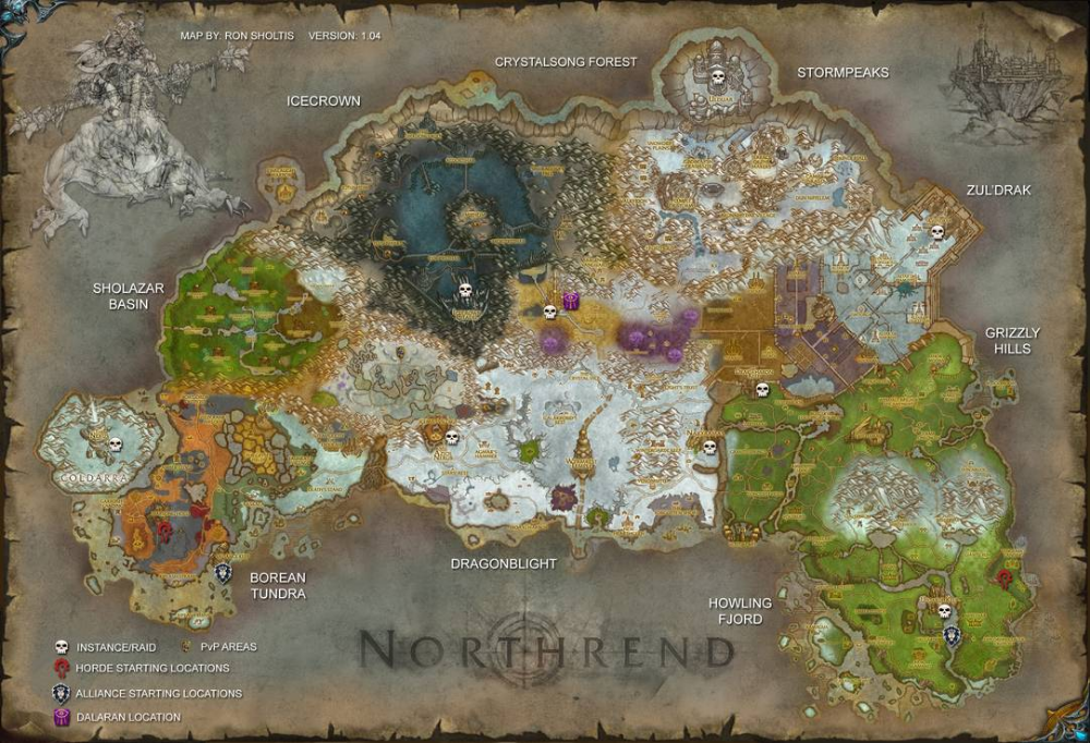 11+ Icecrown map info