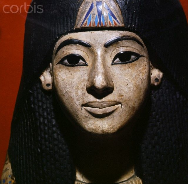 Ancient Egyptian mummy mask of a man