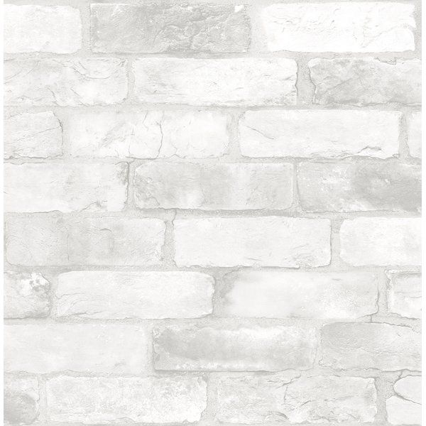Make Your Space Feel Like A Trendy Loft With A Faux Exposed Brick Wall The White Bricks Provide A C White Brick Wallpaper Brick Wallpaper Roll Brick Wallpaper
