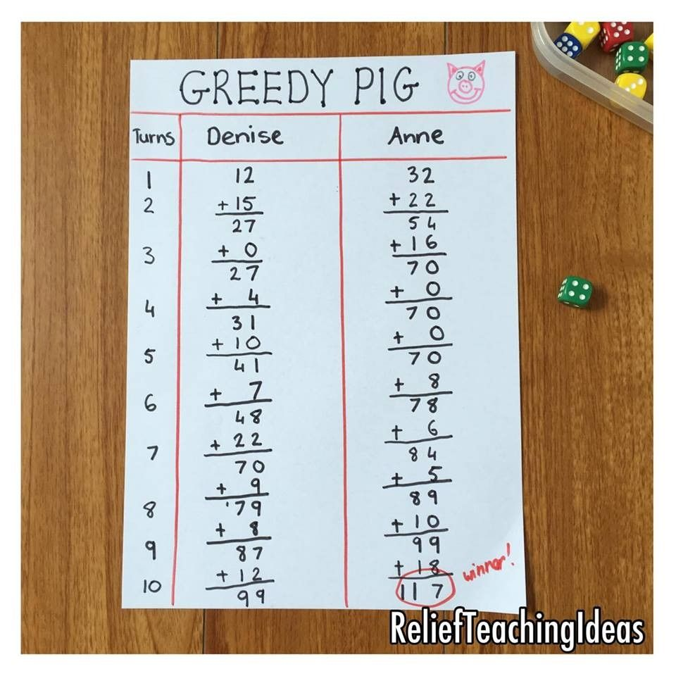 Greedy Pig A quick mental math dice game. You can either