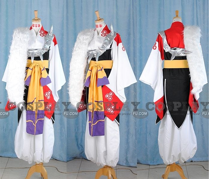 Inuyasha Sesshomaru Kimono Cosplay Costume Tailor Made Any Size!