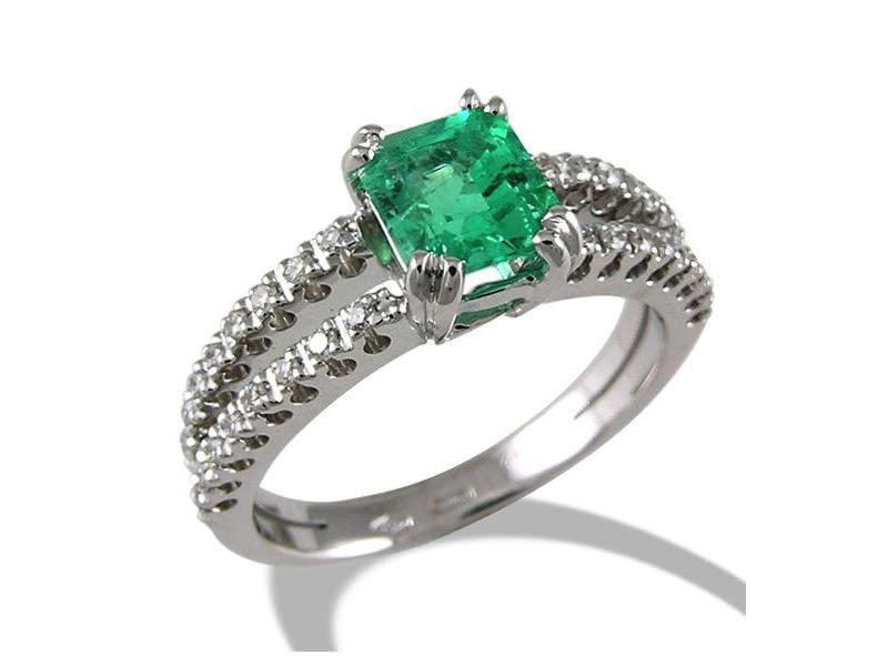 95e4e0349be 23 alianças de noivado com esmeraldas para você se inspirar