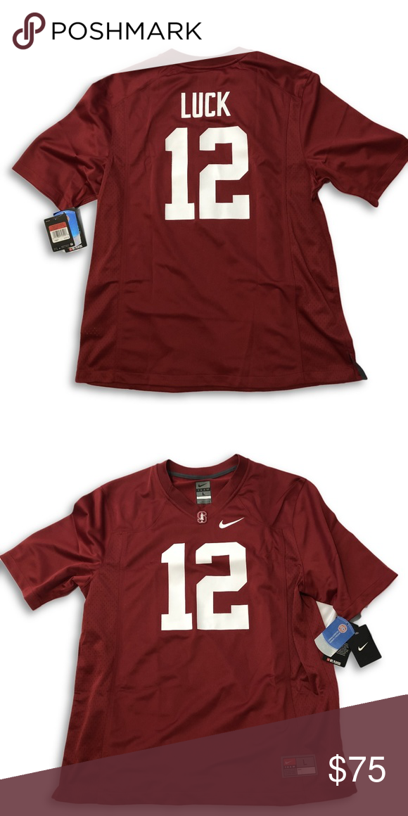 12 Andrew Luck Stanford Cardinal Football Jersey 12 Andrew Luck Stanford Cardinal Player Game Footba Nike Shirts Stanford Cardinal Stanford Cardinal Football