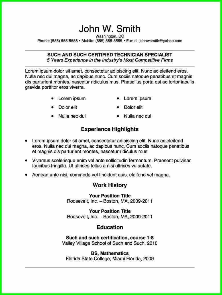 nuik noke Free Resume Templates For College Students in