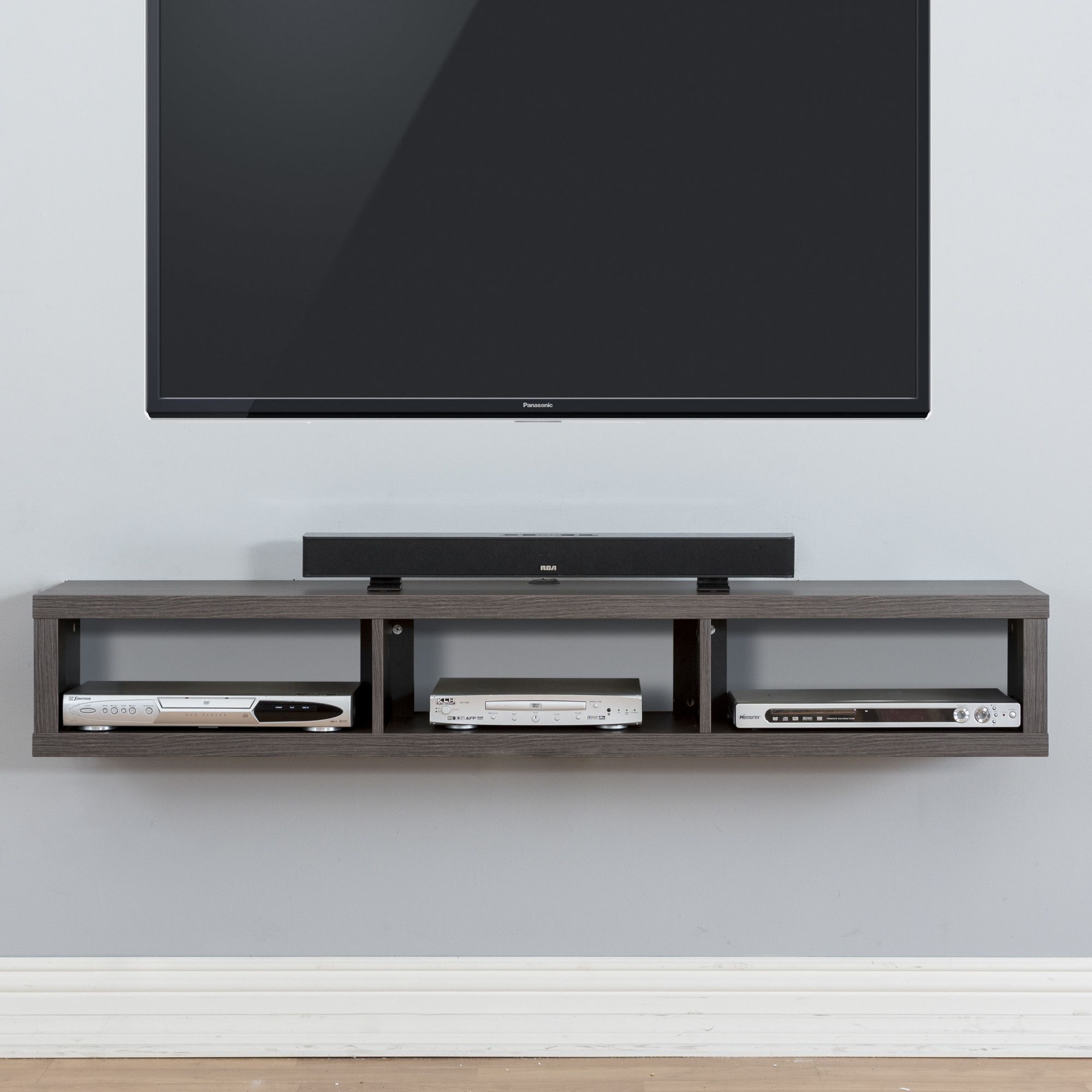 60 Shallow Wall Mounted Tv Component Shelf New Place