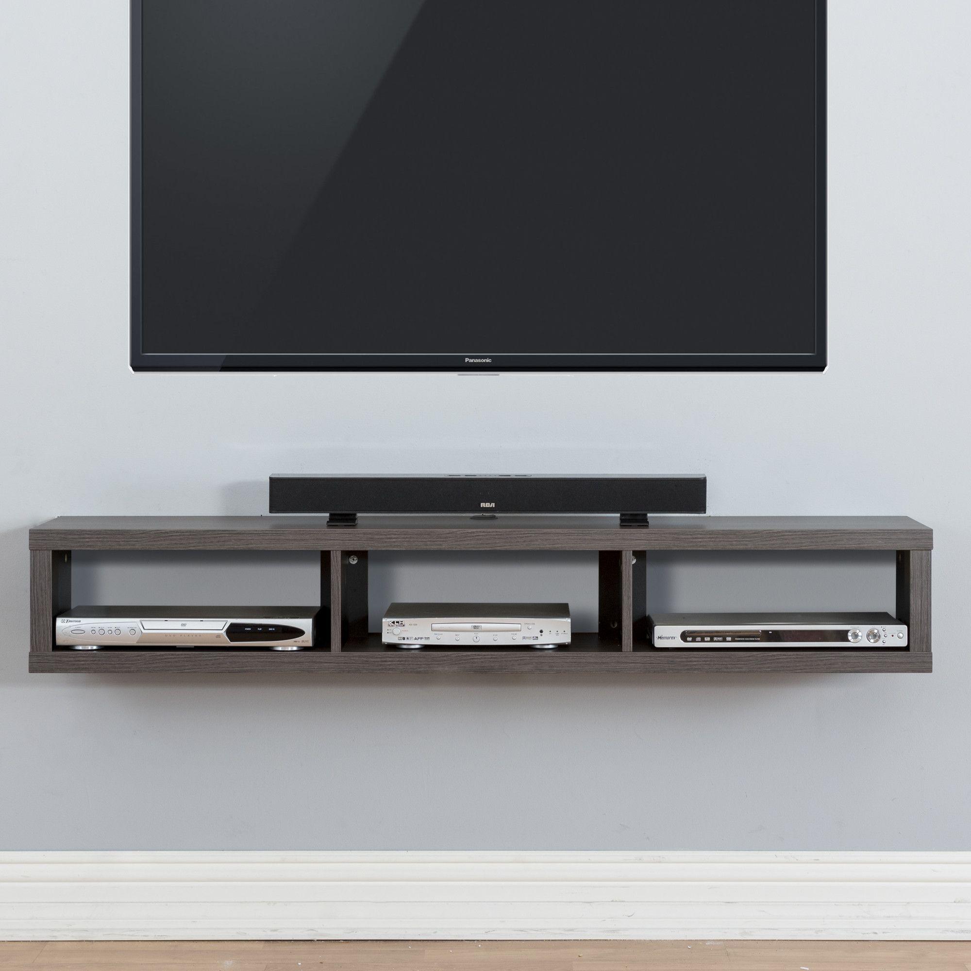 60 Shallow Wall Mounted Tv Component Shelf Wall Mount Tv Shelf