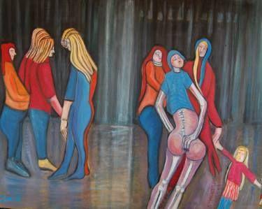 "Saatchi Art Artist Jack Michael Weinblatt; Painting, ""she was heard saying,""I haven't a thing to wear"""" #art"