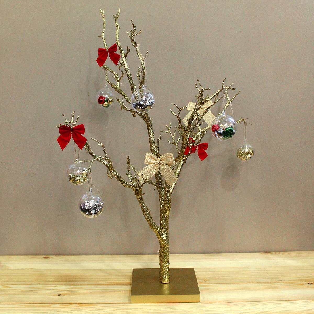 Decorative Twig Tree Gold Glitter Twig Tree 76 Cm  Hobbycraft  Hobbycraft Twig Tree
