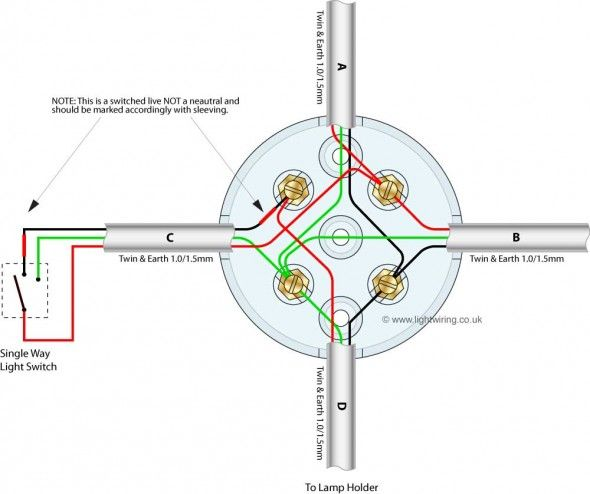 Junction Box Wiring For Looped Radial Lighting Circuit