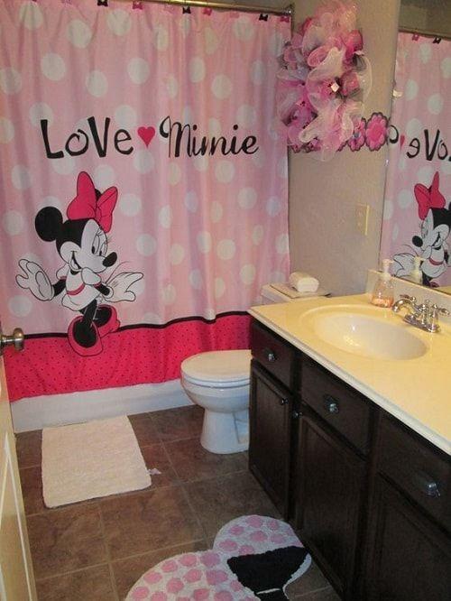10 Hubsche Und Niedliche Minnie Mouse Badezimmer Sets Ideen Disney Badezimmer Kind Badezimmer Madchen Badezimmer