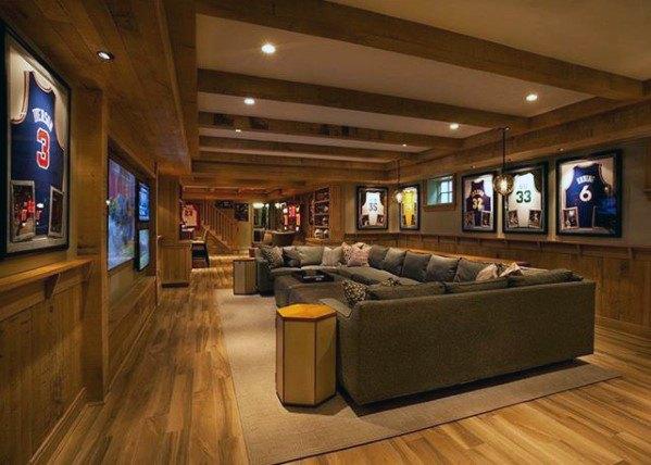 60 Basement Man Cave Design Ideas For Men Manly Home Interiors Man Cave Design Basement Design Man Cave Basement