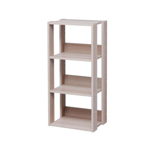 Iris Mado Light Brown 3 Shelf Open Wood Shelving Unit 596226