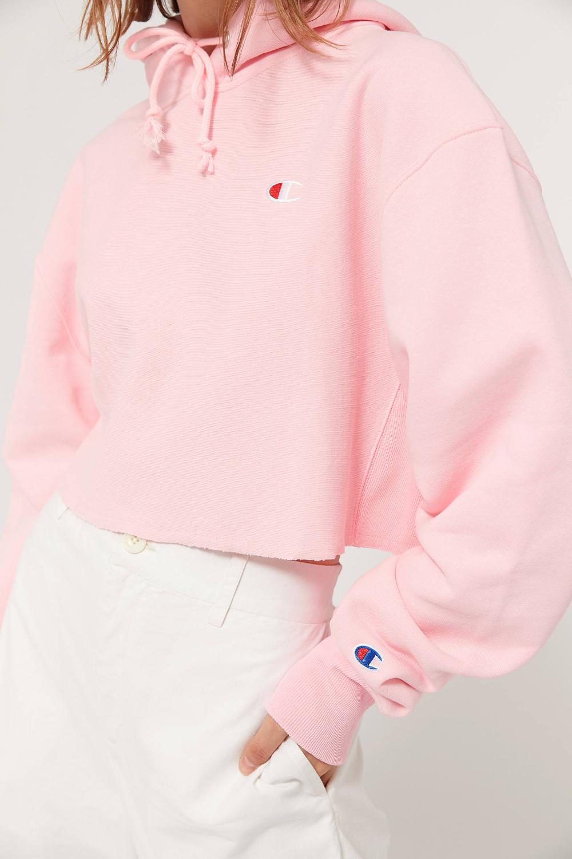 Champion Reverse Weave Cropped Hoodie Sweatshirt Urban Outfitters Crop Sweatshirt Hoodie Cropped Hoodie Champion Clothing [ 1500 x 1000 Pixel ]