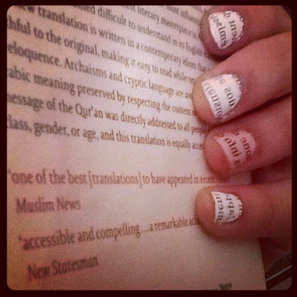 bibliophile version of french nails
