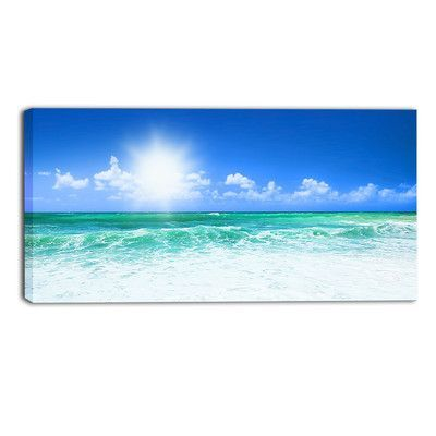 Beautiful Beach Seascape Photographic Print On Wrapped Canvas Piscina Paisagens