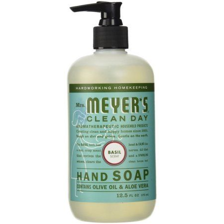 Mrs Meyer S Liquid Hand Soap Basil Multicolor Liquid Hand Soap